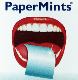 Papermints fresh breath strips closeup