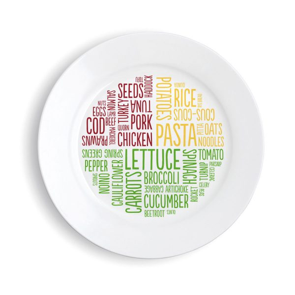 Healthy portion plate